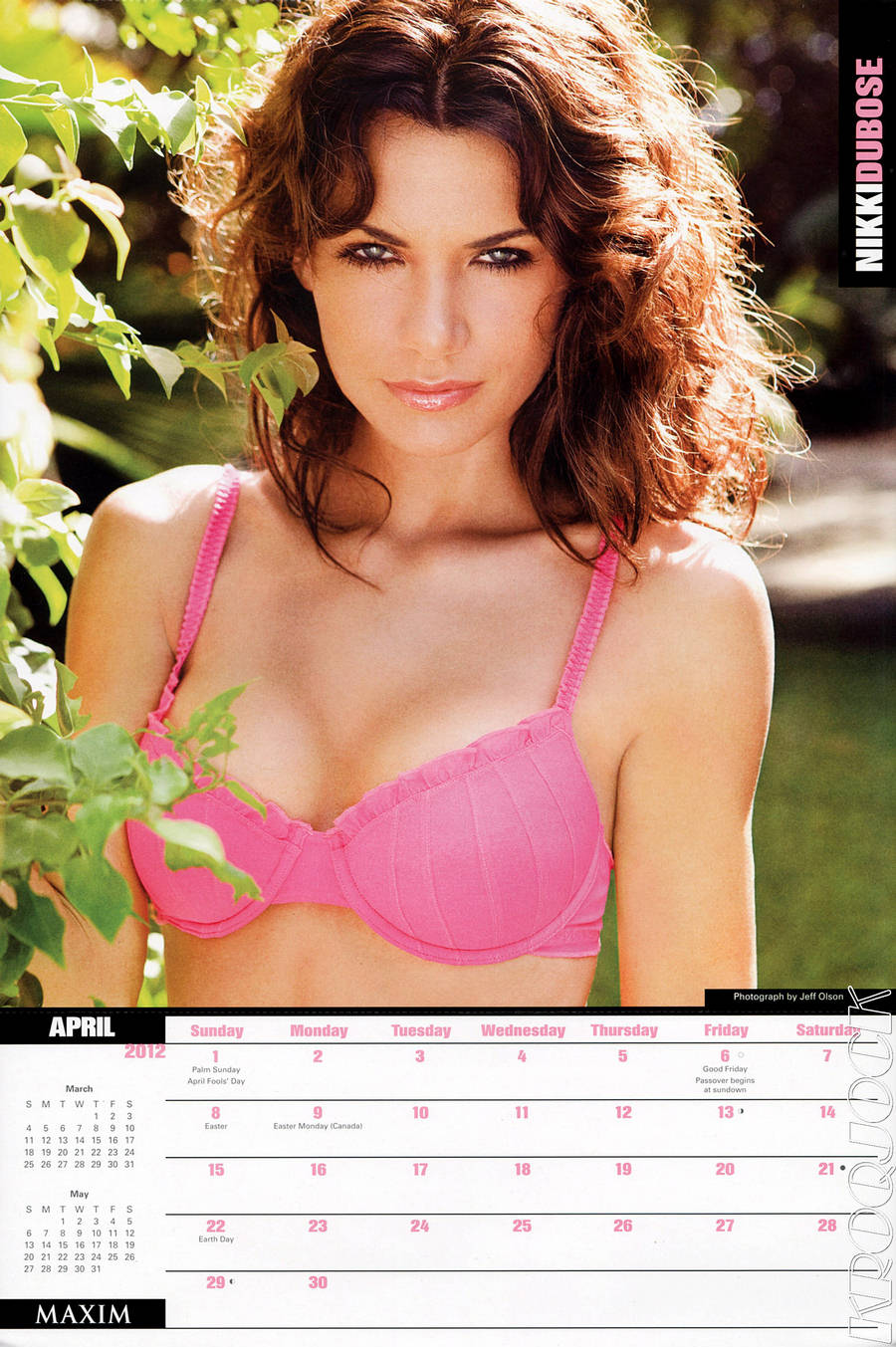 Nikki DuBose Maxim Calendar April 2012
